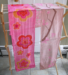 2-Scarves-Drying